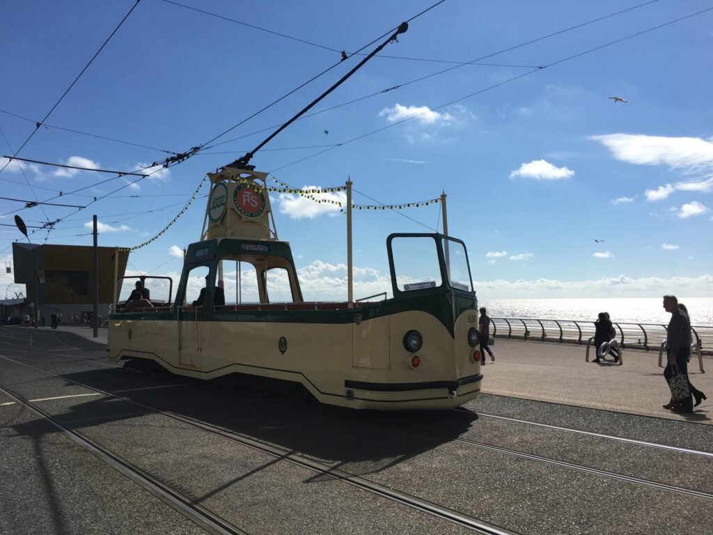 One of the Blackpool Heritage Trams
