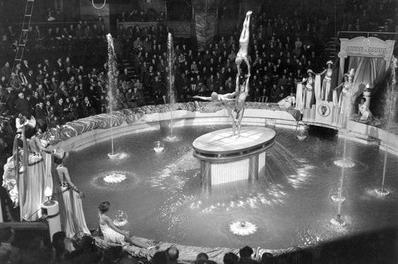 The water finale at Blackpool Tower Circus
