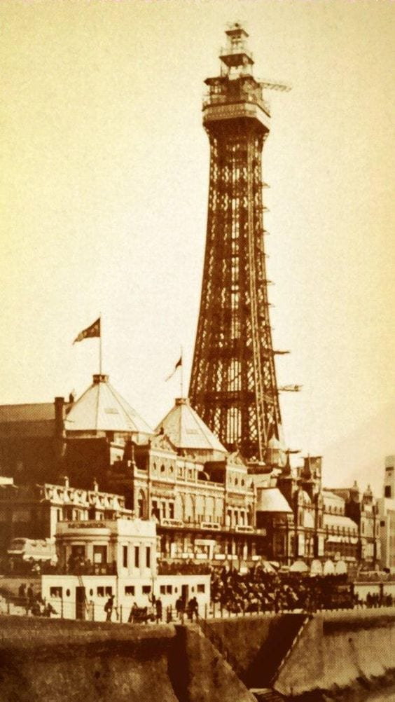Blackpool Tower being used as a radar station in WW2